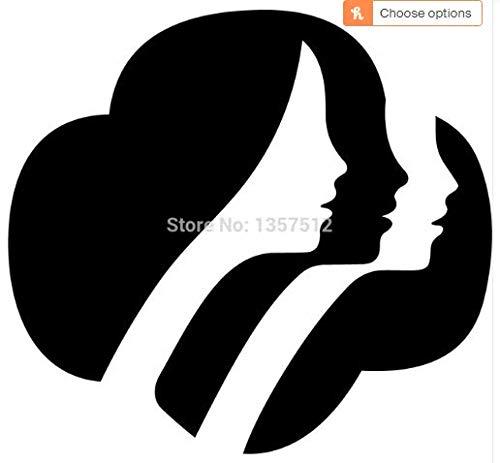 Girl Scout Logo Print Vinyl Window Decal Sticker For Car Laptop Glass 5 3/4 x 5 3/4