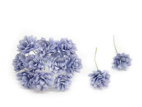 2cm Periwinkle Blue Paper Flowers Baby's Breath Artificial Flowers Fake Flowers Paper Craft Flowers Mulberry Paper Flowers, 50 Pieces from Savvi Jewels