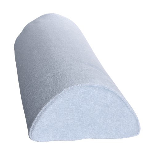 Deluxe Comfort Half Moon/Cylinder Memory Foam Pillow - Therapeutic Back and Knee Pain Relief - Long Lasting Memory Foam - Supportive Contour - Bed Pillow, Blue