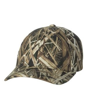 Flexfit Adult Mossy Oak Pattern Camouflage Cap - Shadow Grass - S/M