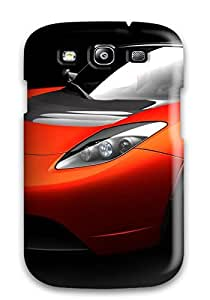 Premium [HNGJgzj3117CbZdQ]tesla Roadster Sports Car Case For Galaxy S3- Eco-friendly Packaging