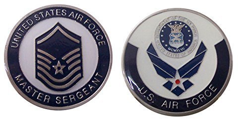 "Cheap Air Force ENLISTED RANKS - Master Sergeant ""E7'' Challenge Coin / Logo Poker / Lucky Chip hot sale"