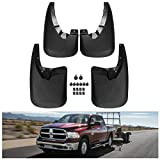 KIWI MASTER Mud Flaps Compatible for 2009-2018 Dodge Ram 1500 & 2010-2018 Ram 2500/3500 Heavy Duty Molded Splash Guards (Only for Trucks Without Fender Flares)