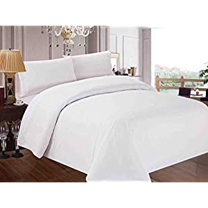 Red Nomad Luxury Duvet Cover & Sham Set, 2 Piece, Twin/Twin XL, White