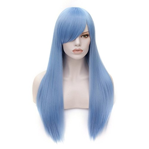 Combing A Costumes Wig (Fashion 21 Colors 70CM Long Straight Costume Cosplay Party Wig (Light Blue))