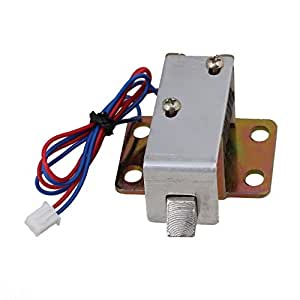 Bqlzr cabinet door electric lock assembly solenoid dc 12v for 12v door latch