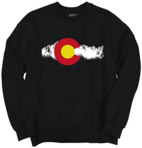 Brisco Brands Colorado State Ski Snowboard Moutain Flag Denver CO Fashion Crewneck - Reviews Brand Ski