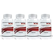Garcinia Cambogia Burn (4 Bottles) - Maximum Strength Garcinia Cambogia Weight Loss Supplement. The Top Rated All Natural Fat Burning Diet Formula
