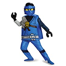 Disguise Costumes Jay Deluxe Ninjago Lego Costume, Medium/7-8