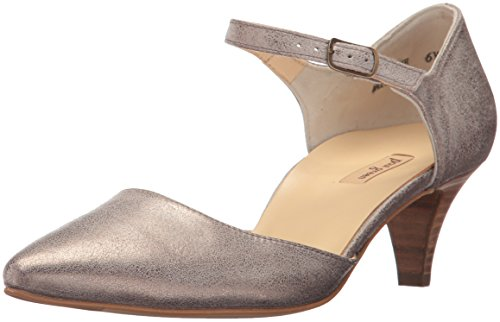 Paul Green Women's Hailey Pump, Smoke Brush, 5.5 Medium US (Women Leather Shoes Italian)