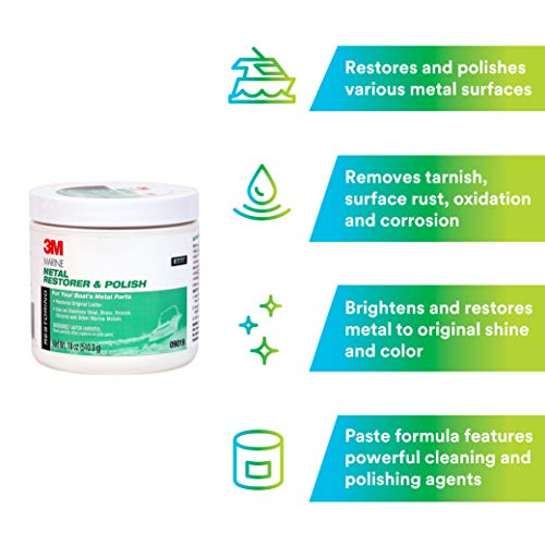 3M 09019 Marine Metal Restorer and Polish (18-Ounce Paste) by 3M (Image #4)