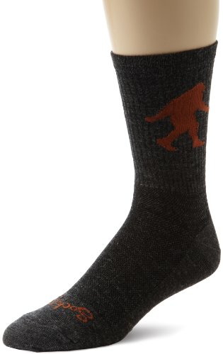 SockGuy Men's Sasquatch 6 Inch Socks, charcoal, Sock Size:10-13/Shoe Size: 6-12