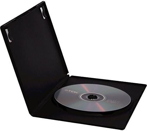 Fellowes 83357 - Pack de 5 Cajas Estuche para DVDs, Color Negro: Amazon.es: Informática