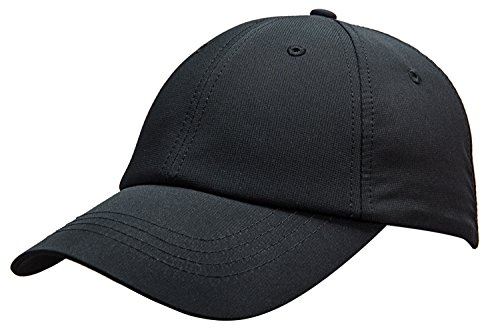 (MIERSPORTS Unisex Running Golf Sports Hat Water-resistant Baseball Cap, Black)