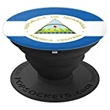 Nicaragua Nicaraguan Flag - PopSockets Grip and Stand for Phones and Tablets