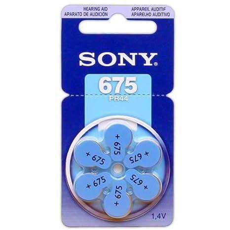 Amazon.com: 60 Sony Pilas de botón para audífonos tamaño ...