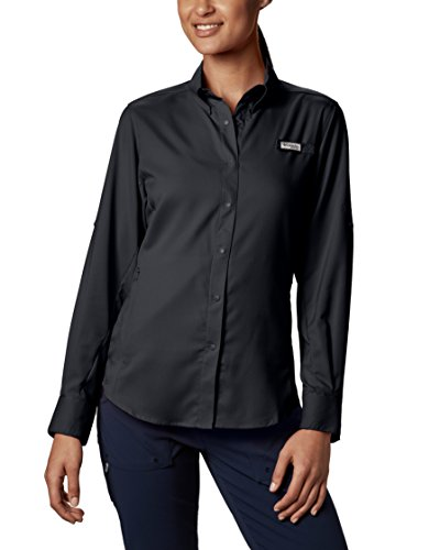 (Columbia Women's PFG Tamiami II Long Sleeve Shirt , Black, X-Small)