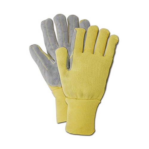 Magid Glove & Safety KV92WLEA-9 Magid Cut Master Leather Palm Kevlar Knit Terrycloth Glove, X-Large, Yellow , 9 (Pack of 12) by Magid Glove & Safety (Image #3)