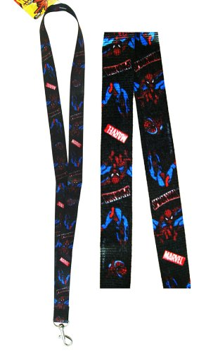 Marvel Spiderman Lanyard - Spiderman Lanyard - Black (1 pc)