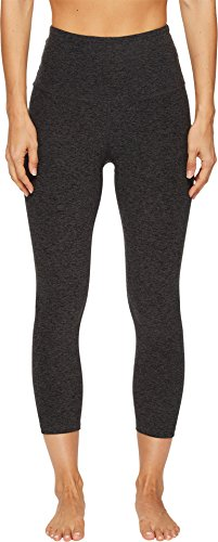 Beyond Yoga Women's High Waist Capri Leggings, Black/Charcoal, Medium