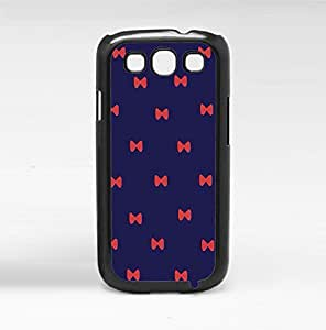 Cute Dark Blue Background with Red Bows Hard Snap on Phone Case (Galaxy s3 III)