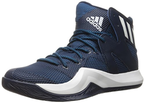adidas Performance Mens Crazy Bounce Basketball Shoe Collegiate Navy/White/Unity Blue Fabric