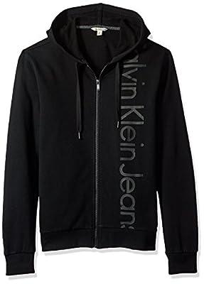 Calvin Klein Jeans Men's Vertical Logo Full Zip Hoodie