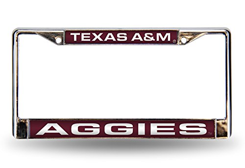NCAA Texas A&M Aggies Laser Cut Inlaid Standard Chrome License Plate ()