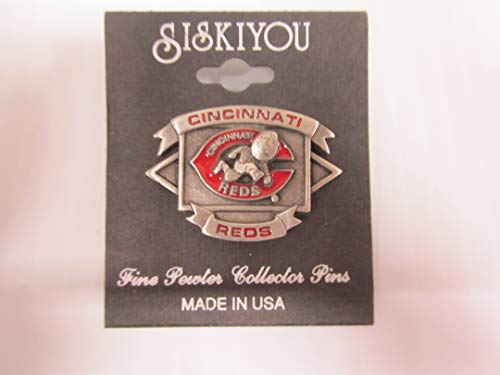 (Cincinnati Reds Officially Licensed VINTAGE COLLECTORS PIN by Siskiyou)