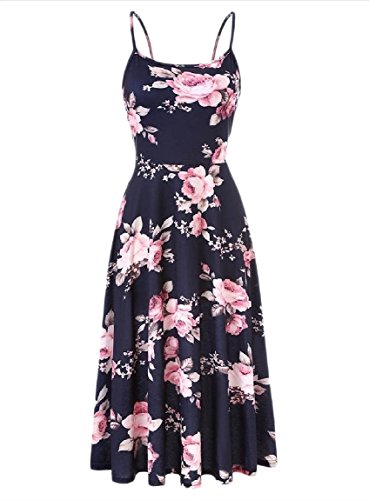 Dress Navy Sexy Sun Spring Blue Women Swing Floral Boho Coolred Baggy Sling 0gzUavBT