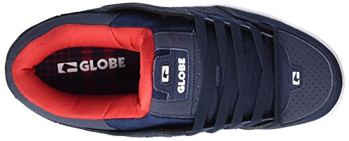 Globe Fusion - Zapatillas de casa Hombre Blau (Navy/Red)