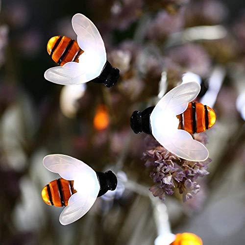 Joomer Bumble Bee 20 LED Solar String Lights, Cool White