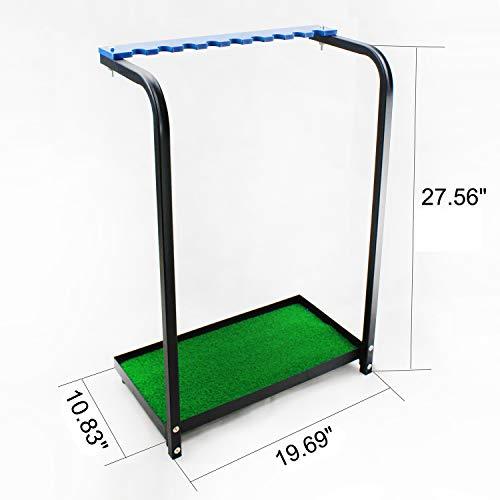 Kofull New Golf Club Display Stand Rack Durable Metal Storage 9 Clubs Golf Clubs Shelf Organizer Equipment (Golf Organizer Rack)