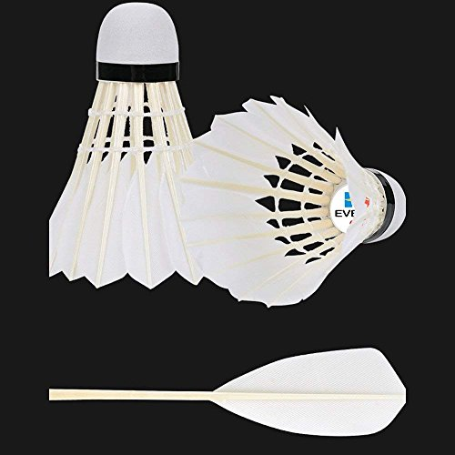 KEVENZ 48-Pack Advanced Goose Feather Badminton Shuttlecocks,Nylon Feather Shuttlecocks High Speed Badminton Birdies Balls with Great Stability and Durability (White,48-Pack) by KEVENZ (Image #2)