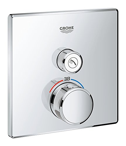 - GROHE 29123000 | Grohtherm SmartControl Thermostat Concealed | Square | 1 Valve
