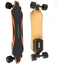 Landwheel L3-AX Gen5 Longboard Electric Skateboard - Thriller Ride - Dual In-Wheel Brushless Motors 2200W - Click-In Swap Out Battery - 2-Speed Wireless 2.4Ghz Hand-Held Remote - 28 MPH - 7 Mile Range