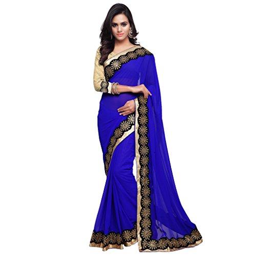 Royal Blue Saree - 2