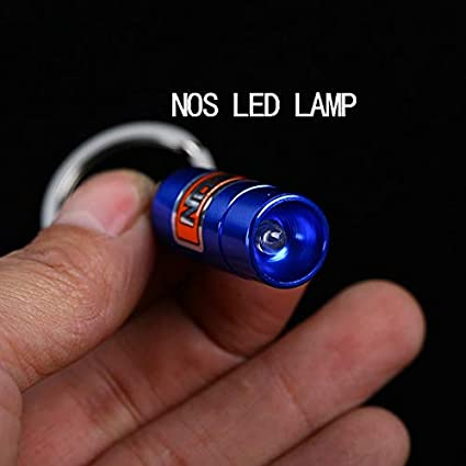 Llaveros NOS LED lámpara Mini óxido nitroso botella llavero ...