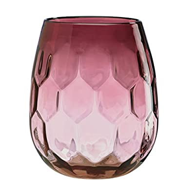 Lenox Hive Plum Vase - Crafted of non-lead crystal Hand washing is recommended Measuring 9.5 inches in diameter - vases, kitchen-dining-room-decor, kitchen-dining-room - 41BYjWqoeVL. SS400  -