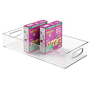 Amazon.com: mDesign Plastic Kitchen Pantry Cabinet ...