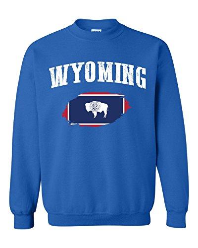 NIB Wyoming State Flag University Of Wyoming Cowboys & Cowgirls American Unisex Crewneck Sweater