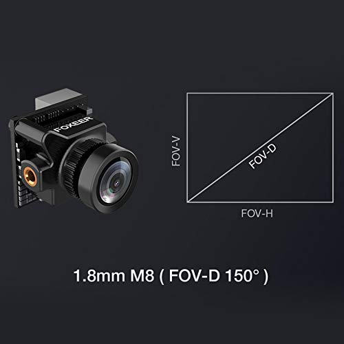 Wikiwand Foxeer Predator V2 FPV Micro Camera Cam with 1.8mm Lens OSD 1000TVL WDR NTSC