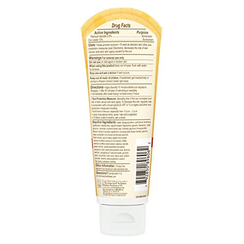Burt's Bees Baby Nourishing Mineral Sunscreen, SPF 30 Water Resistant Baby Sunblock - 3 Ounce Tube