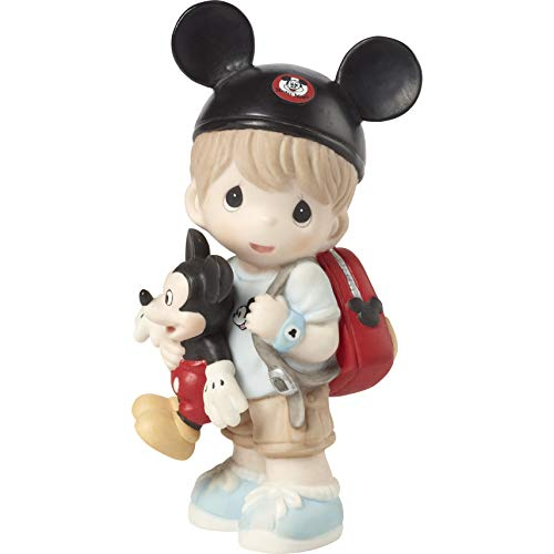 (Precious Moments Disney Showcase Boy Mickey Mouse Fan 191062 Figurine, One Size, Multi)