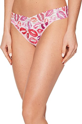 Hanky Panky Women's Love & Kisses Original Rise Thong Pink Multi One Size ()