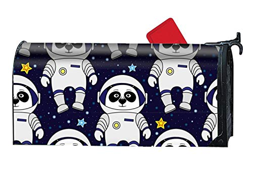 BABBY Astronaut Panda Mailboxes Cover Rust-Proof Mail Box Covers Large Capacity Post Mouth Letter -