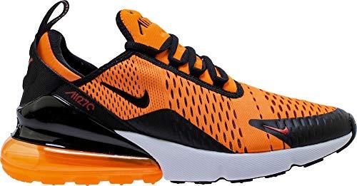 Nike Mens Air Max 270 Running Shoe (9.5), Total Orange/Black-white-chile Red