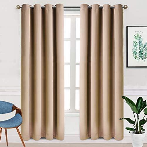 TEKAMON Blackout Window Curtains