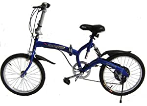 Blue Folding Bike with free carrying bag