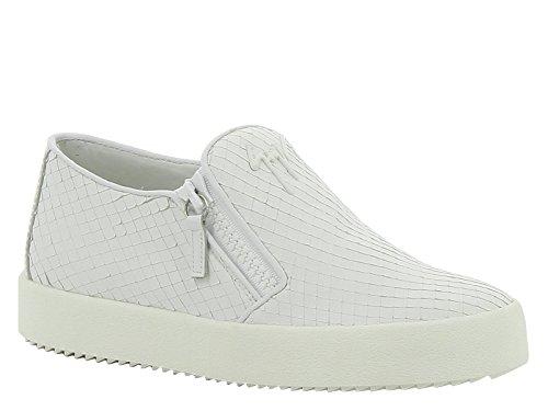 Giuseppe Zanotti Chinelo Sneaker Feita De Couro Branco - Número Do Modelo: Rs6006 003 Size: 39 / Ue 40
